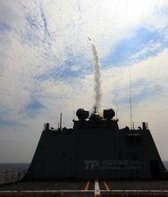 海基红旗-16导弹发射瞬间