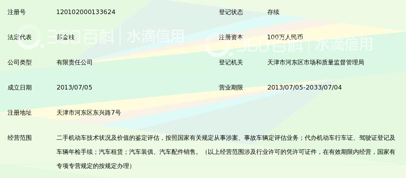 天津东旭机动车鉴定评估有限公司