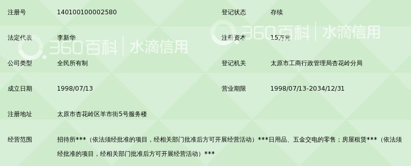 太原市财政金融职业中专学校实习服务部