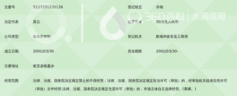 瓮安县剑宏黄磷厂