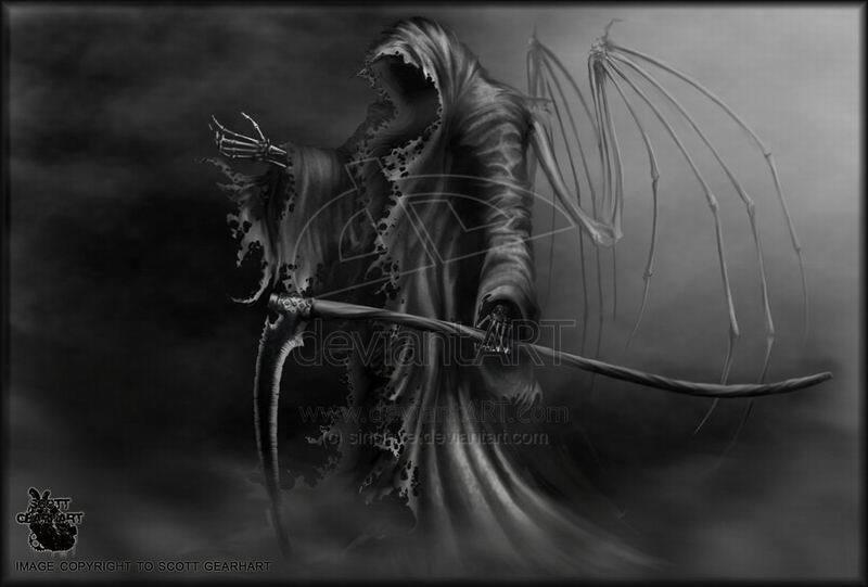 恶魔镰刀死神壁纸