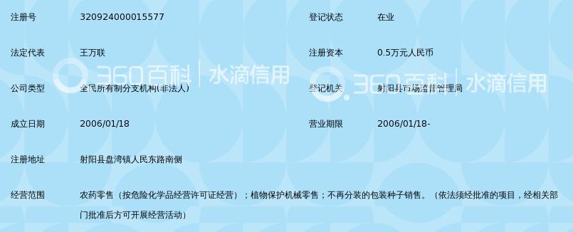 射阳县植保公司盘湾为农服务站
