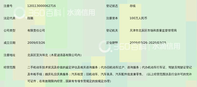 天津段德平机动车鉴定评估有限公司